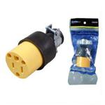 Toma 15 amp con tierra goma nylon (U353S)